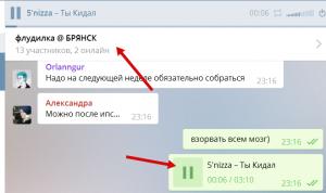 Аудио в телеграме